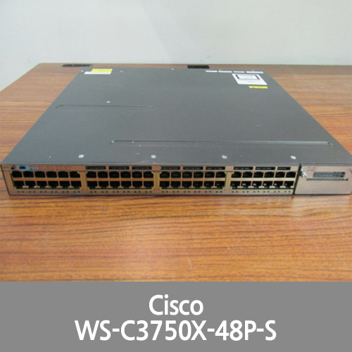 [Cisco] WS-C3750X-48P-S CISCO 48 PORT SWITCH
