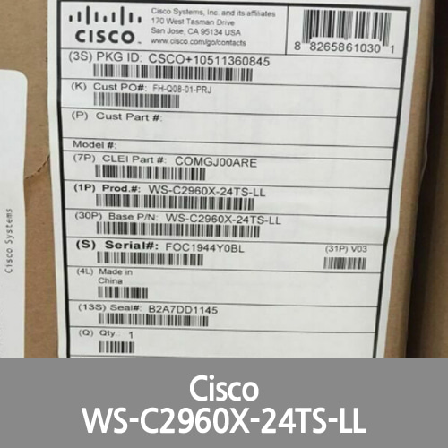 [Cisco] *New* WS-C2960X-24TS-LL Catalyst 2960-X 24 GigE, 2 x 1G SFP, LAN Lite