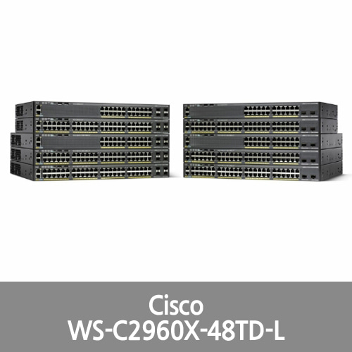 [Cisco] (WS-C2960X-48TD-L) 48-Port Desktop Ethernet Switch