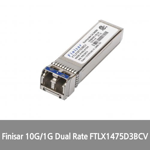 [Finisar][광모듈] 10G/1G Dual Rate (10GBASE-LR/LW and 1000BASE-LX) 10km 1310nm Single Mode Datacom SFP+ Optical Transceiver FTLX1475D3BCV