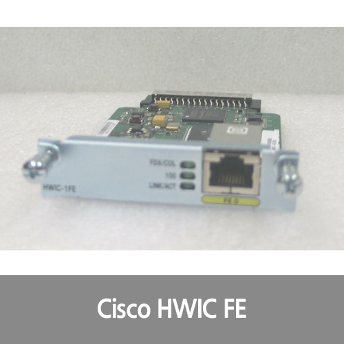 [Cisco][FE포트] HWIC-1FE 1 Port Fast Ethernet High-Speed WAN Interface Card Layer 3 ISR