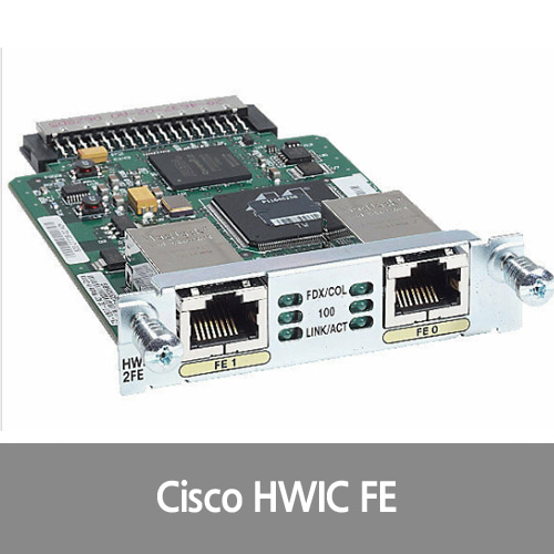 [Cisco][FE포트] HWIC-2FE Two-Port Fast Ethernet High Speed WAN Interface Card