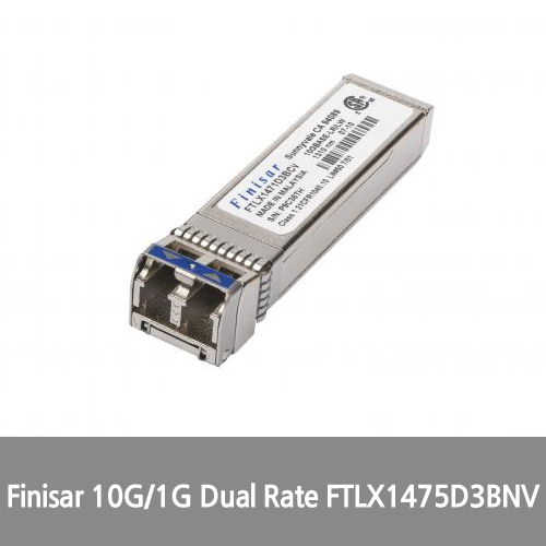 [Finisar][광모듈] 10G/1G Dual Rate (10GBASE-LR/LW and 1000BASE-LX) 10km 1310nm Extended Temp Single Mode Datacom SFP+ Optical Transceiver FTLX1475D3BNV