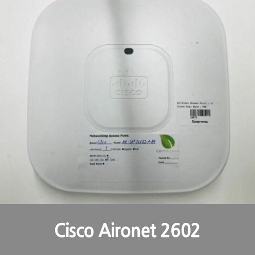 [중고][Cisco][무선AP] AIR-SAP2602I-A-K9 Aironet Series Wireless N DUAL BAND Access Point PoE 100