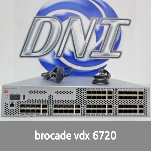 [Brocade] Brocade BR-VDX6720-60-F Fibre Channel Switch with 60x Active Ports