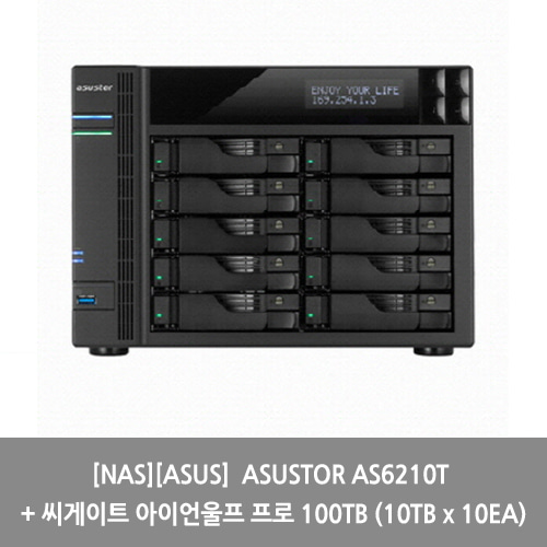 [NAS][ASUS] ASUSTOR AS6210T + 씨게이트 아이언울프 프로 100TB (10TB x 10EA)