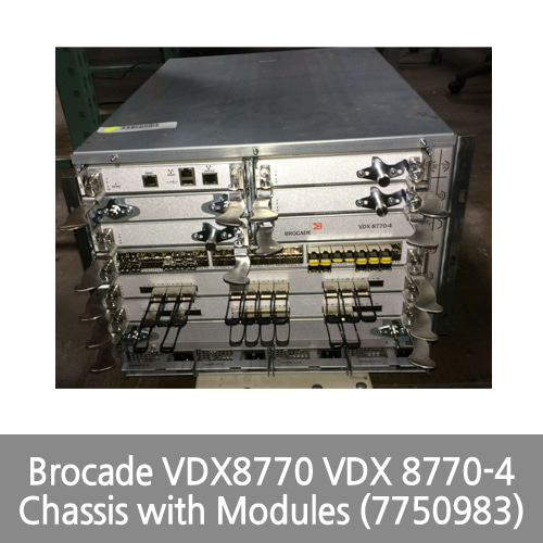 [Brocade] VDX8770 VDX 8770-4 Chassis with Modules (7750983)