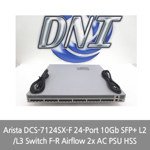 [Arista] DCS-7124SX-F 24-Port 10Gb SFP+ L2/L3 Switch F-R Airflow 2x AC PSU HSS