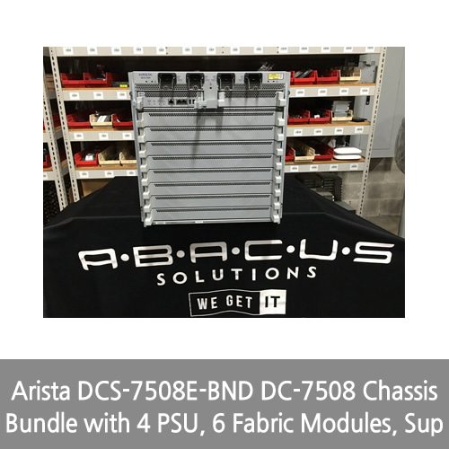 [Arista] DCS-7508E-BND DC-7508 Chassis Bundle with 4 PSU, 6 Fabric Modules, Sup